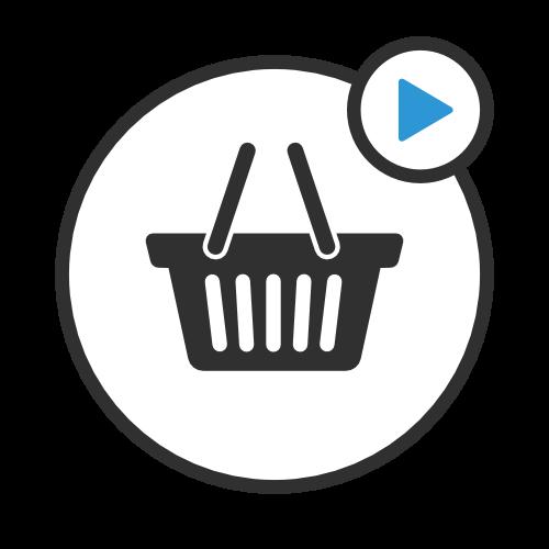 Simbolo di cestino della spesa