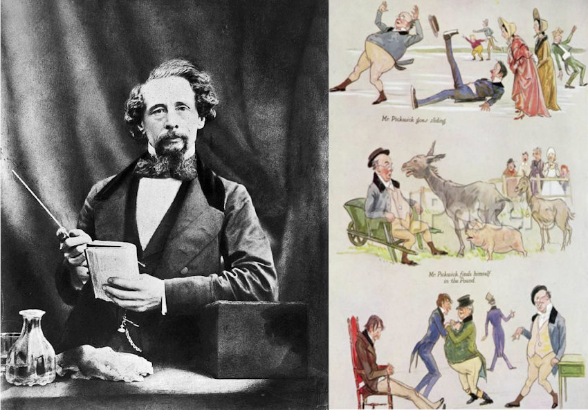 Ritratto fotografico di Dickens
