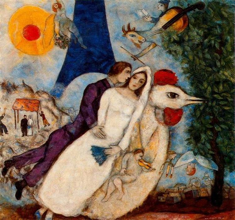 Chagall, Gli sposi e la Tour Eiffel